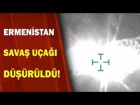 Azerbaycan Ordusu Ermenistan'a Ait Su-25 Savaş Uçağını Düşürdü! / A Haber