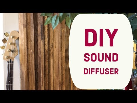 How to build a DIY sound diffuser