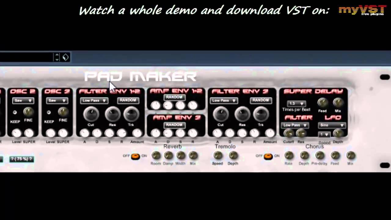 Pad Maker - Free VST - myVST Demo