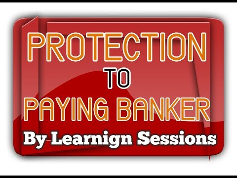 Protection to Paying Banker in Negotiable Instrument Act 1881 [HINDI]