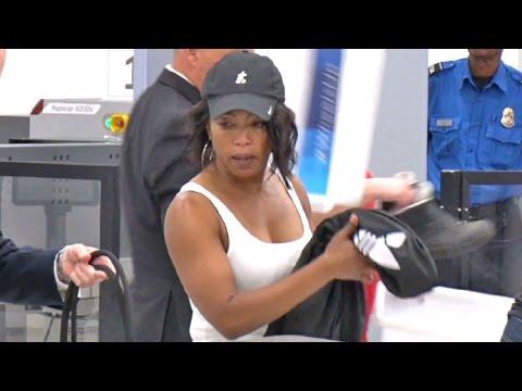 Angela Bassett Shows Of Her Biceps Going Through LAX TSA ...