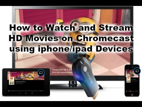 how to play videos from iphone to tv using chromecast