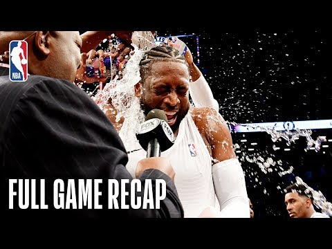 HEAT vs NETS | Dwyane Wade Shines In Last NBA Game | April 10, 2019