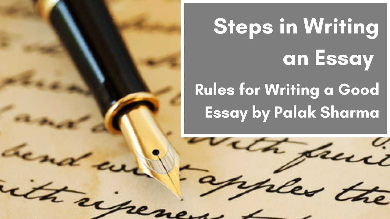 rules to writing a good essay Good topics on deforestation main rules to be observed when writing a process analysis essay to write a proper process analysis essay you should follow these rules: state what you are going to describe: this is your topic and it should be very precise.