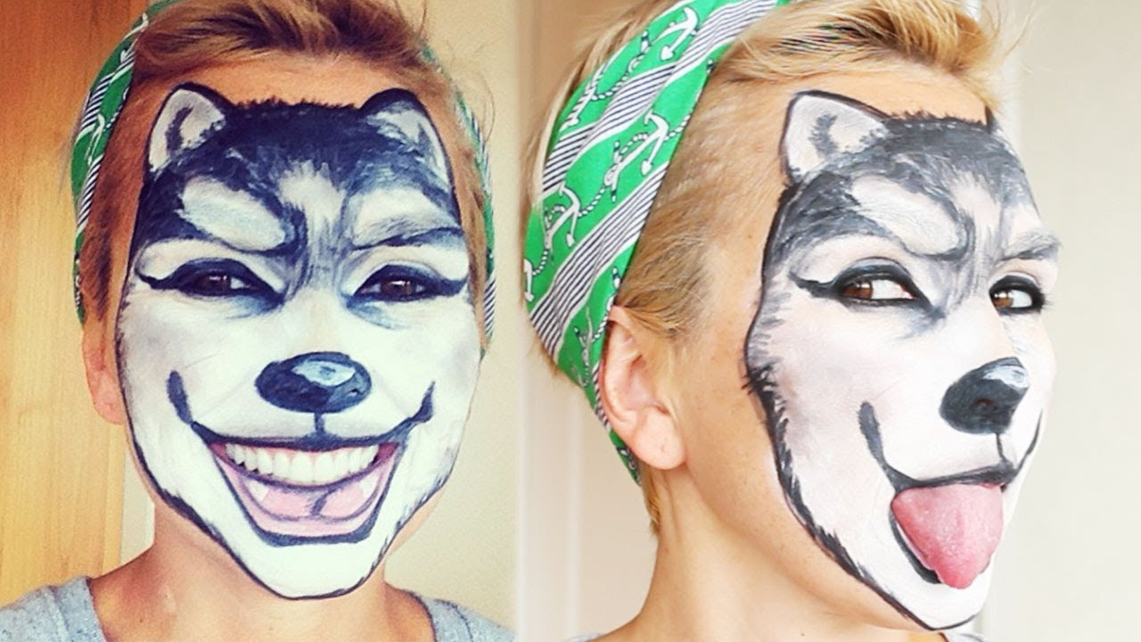 Wolf Makeup Face Painting | Kandee Johnson - YouTube