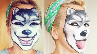 Wolf Makeup Face Painting | Kandee Johnson