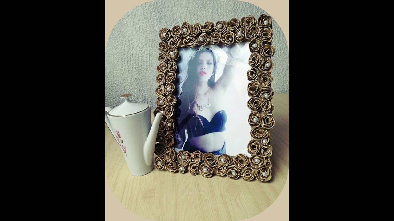 DIY portaretrato con carton de huevo - YouTube