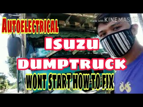 Isuzu dumptruck wont start, burn wire problem, how to fix