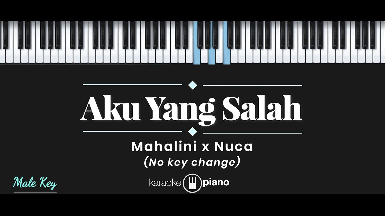 Aku Yang Salah - Mahalini x Nuca  (KARAOKE PIANO - MALE KEY)