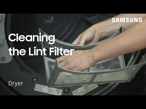 Clean the Lint Filter on your Samsung Dryer