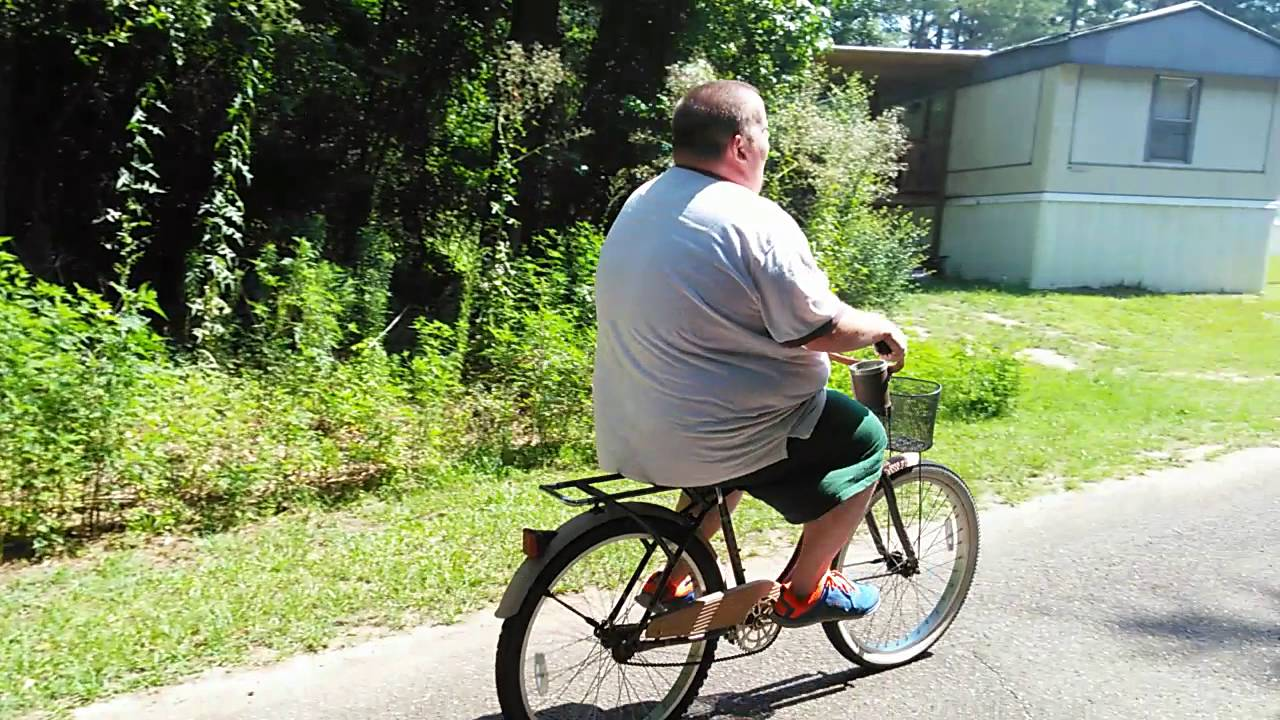 Fat Man On Bicycle 35