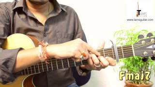 Janam Janam  guitar lesson for beginners easy-dilwale  (www.tamsguitar.com)