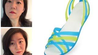 CROCS   Women's Huarache Flat   shock absorb, lightweight, no stink sandal   effortlessruth