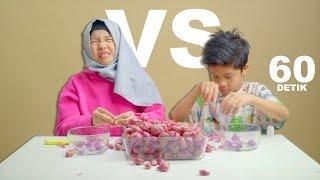 60 Detik Battle | Fatim VS Fateh Kupas Bawang Merah Sampe Nangis