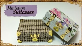 Miniature vintage inspired Suitcases - Polymer clay/Fabric Tutorial
