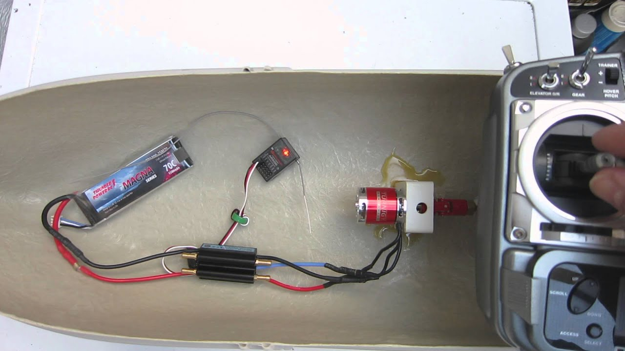 Hobbyking 30a Boat Esc Direct Reverse Test
