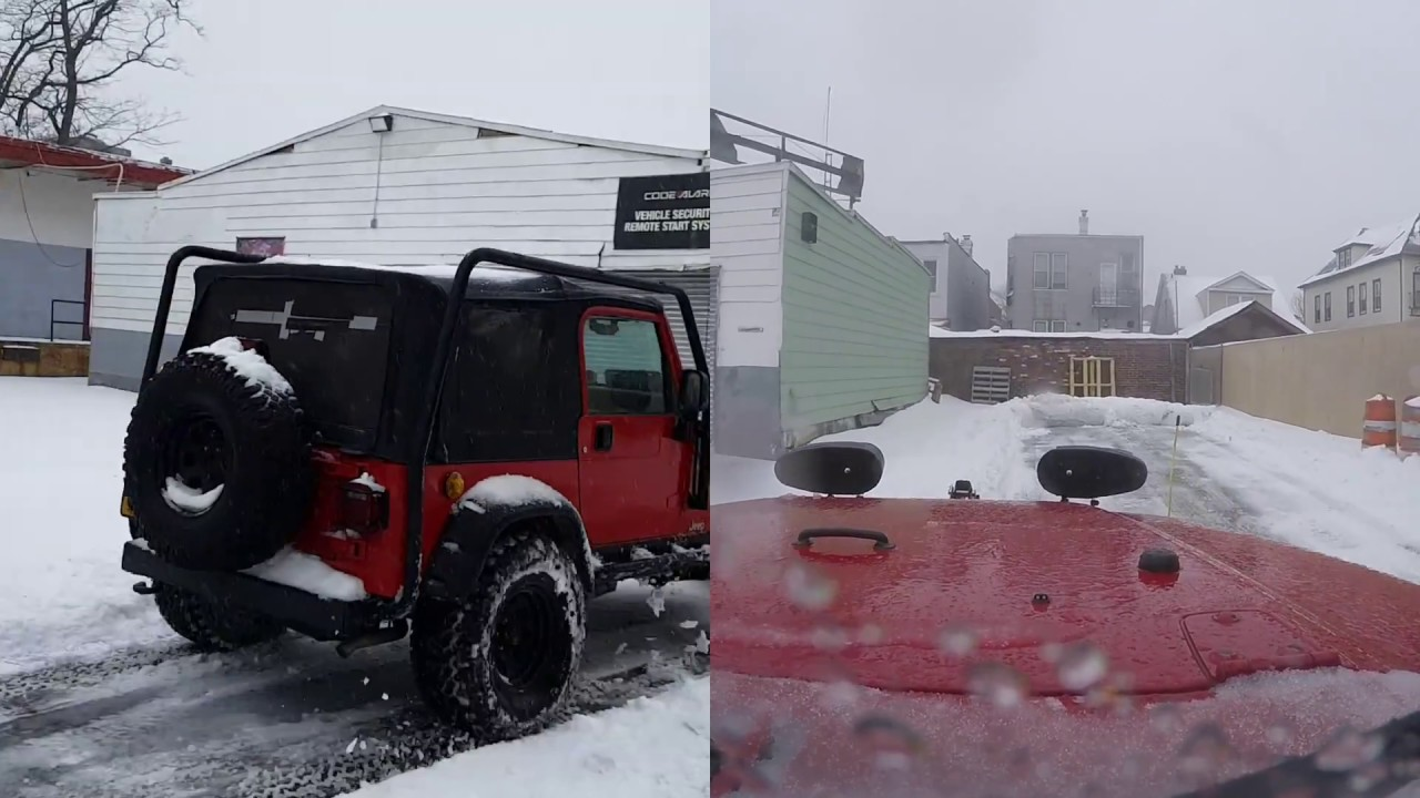 plowing snow in a jeep wrangler with a meyer plow youtube rh youtube com Meyers Plow Wiring Diagram Remote Meyer Snow Plow Wiring Diagram