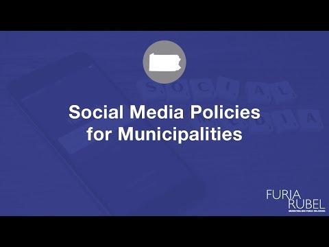 Social Media Policies for Municipalities - Furia Rubel