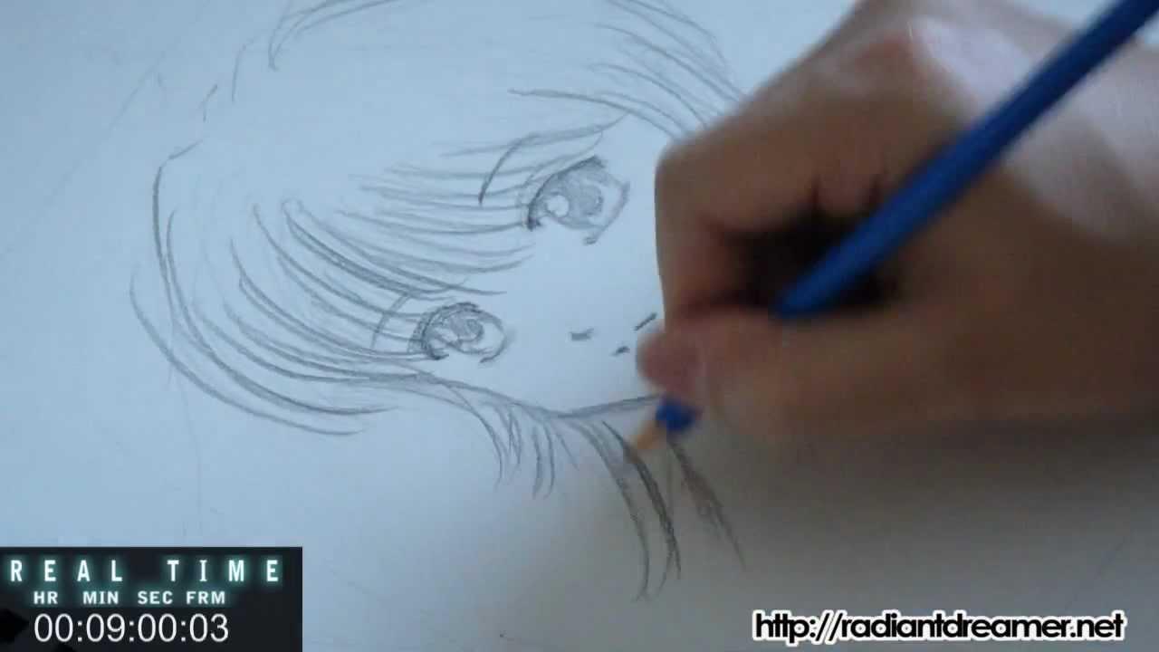 Anime Sketch Time Lapse