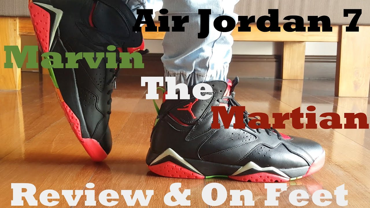 save off e358c dc57b Air Jordan 7  Marvin the Martian  Review   On Feet