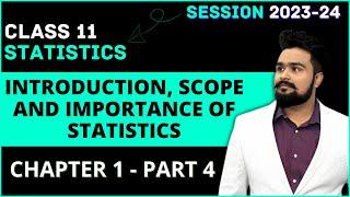 #4,Scope of statistics | nature | subject matter | limitations | Statistics for economics | Class 11