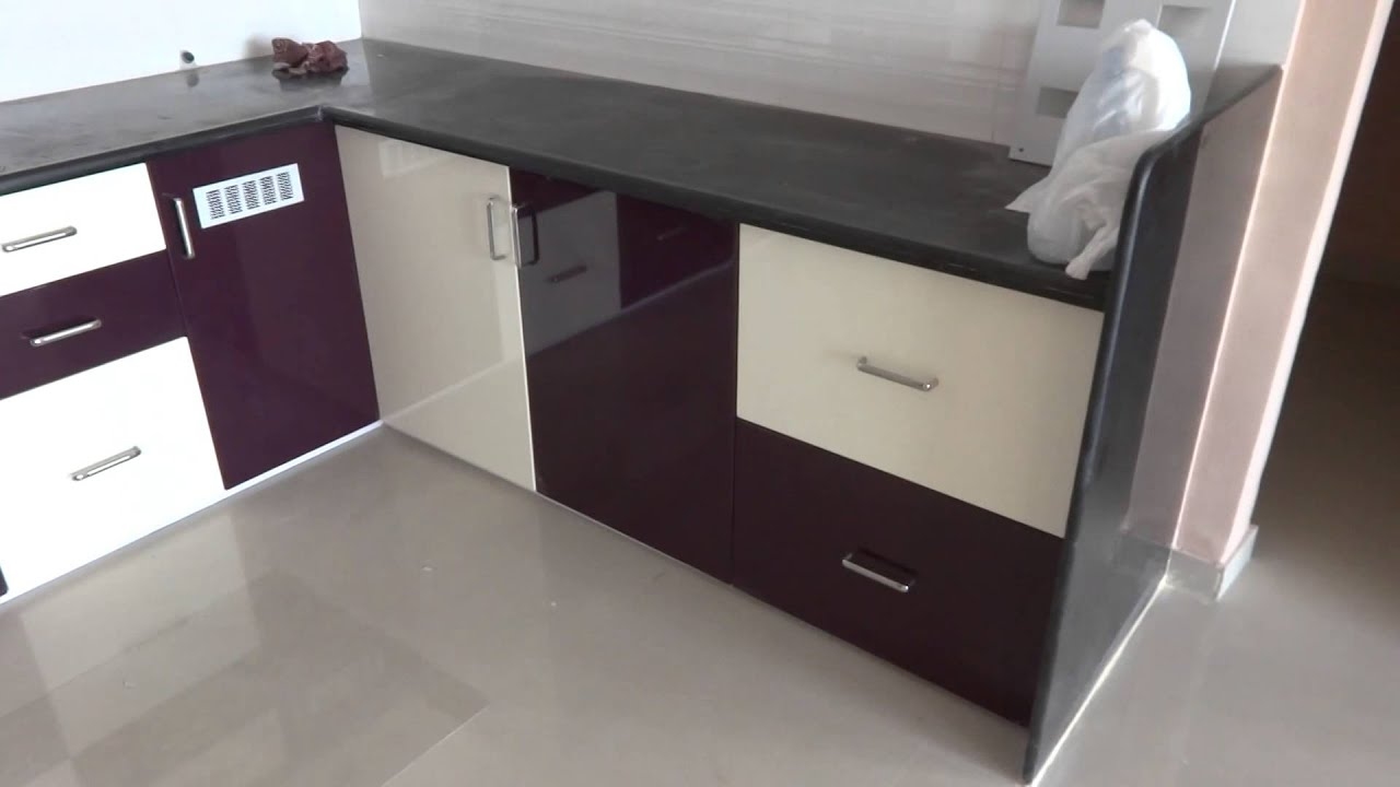 gloss purple and kream colour modular kitchen in bharuch youtube: modular kitchen colors
