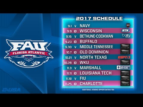 Florida Atlantic Owls - 2017 C-USA Football Kickoff