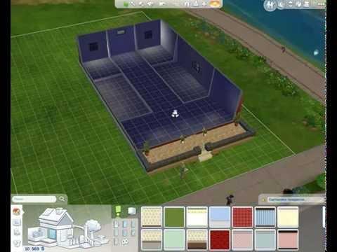 Прохождение The Sims 4 Стройка дома - Стены, крыша, фасад, обои, пол в The Sims 4