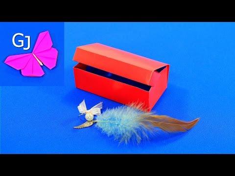 Шкатулка для украшений оригами