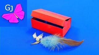 Оригами шкатулка для украшений(Оригами шкатулка для украшений очень полезная поделка из бумаги! Легкая в изготовлении, эта оригами коробо..., 2015-07-14T12:00:24.000Z)