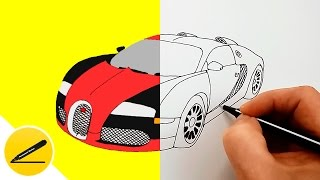 How to Draw a Car - Bugatti Veyron ★