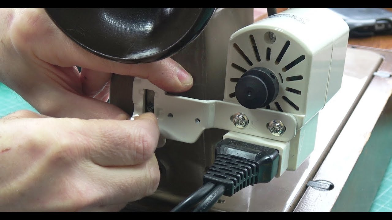 Upgrading motor and lighting on a vintage Singer Sewing Machine on