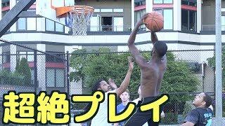 アメリカのストリートバスケの試合に出てみた thumbnail