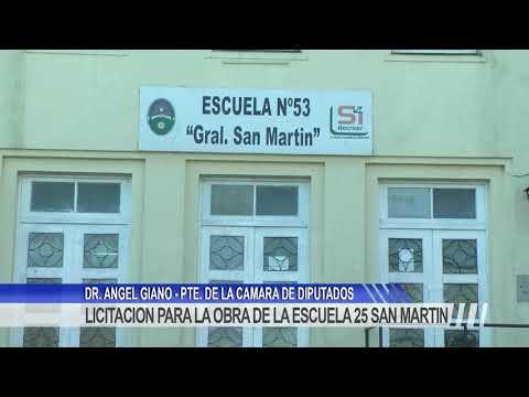 """Giano: """"cumplimos con nuestra promesa ante la comunidad educativa de la Escuela Nº25 Gral. San Martín"""""""