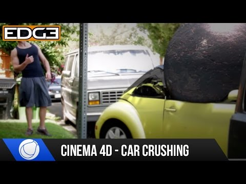 Cinema 4D Tutorial - Car Crushing with Cloth Dynamics in c4d HD