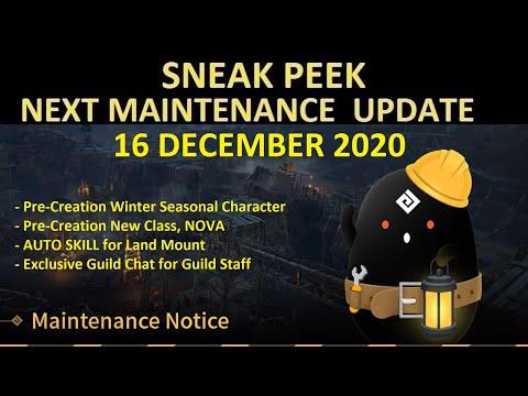 PreCreation Winter Seasonal Char & New Class NOVA, Land Mount Auto Skill (Sneak Peek 16 Dec 2020)