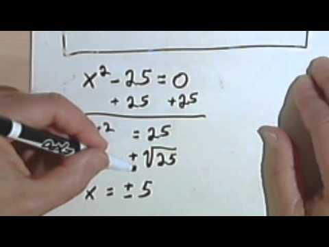 Solving Quadratic Equations with the Square Root Method, part 1 5-6a