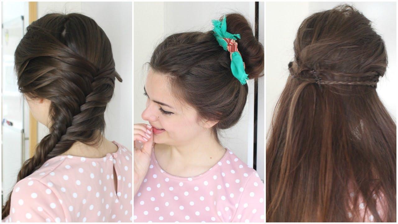 three heat free hairstyles
