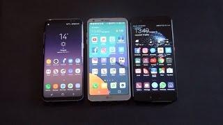Samsung S8 vs LG G6 vs Huawei P10 Plus batista70phone