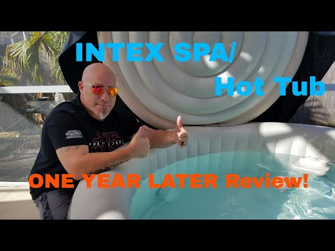INTEX Spa and HOT TUB! 1 YEAR LATER!