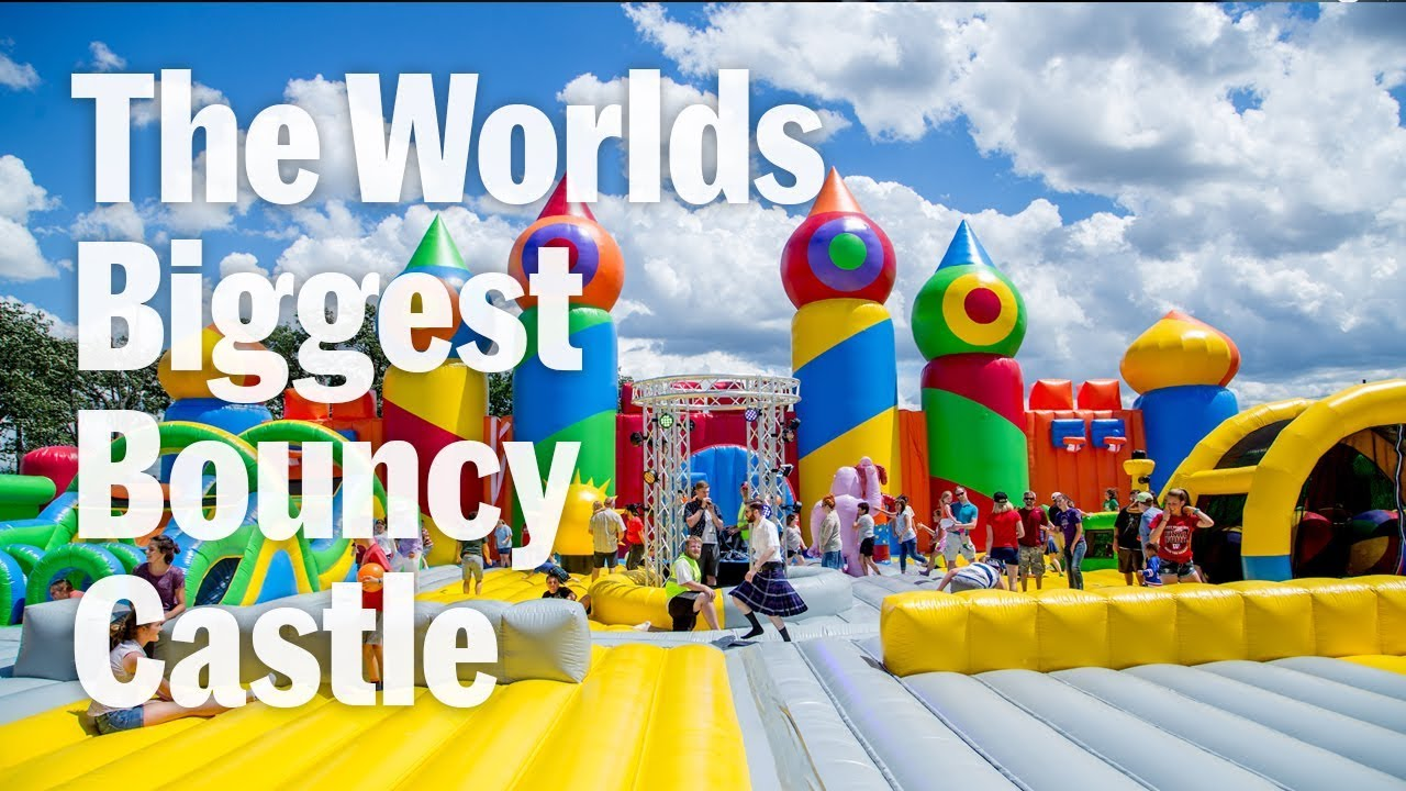 Worlds Largest Bouncy Castle Big Bounce America Youtube