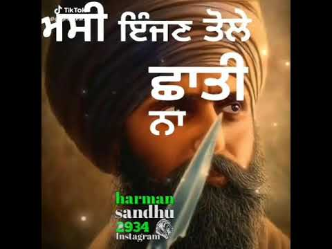 Na Teera Na Talwara To Sikh Kaum Dare Gaddara To
