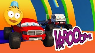 Tow Truck vs Pickup Truck | Monster Trucks for Kids | Car cartoons | Car Challenge 3d | Kids Video