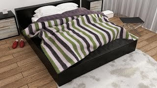 Cloth Bed Cover with wrinkles 3ds Max Tutorial