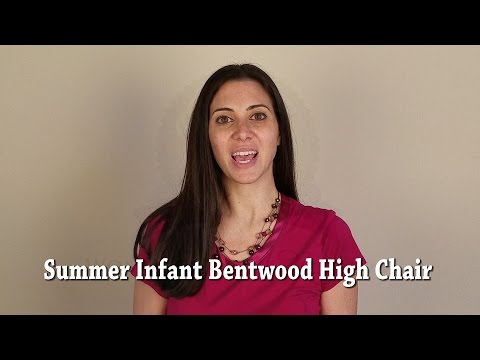Summer Infant Bentwood High Chair   YouTube