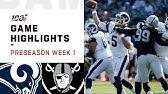 Rams vs. Raiders Preseason Week 1 HighlightsNFL 2019