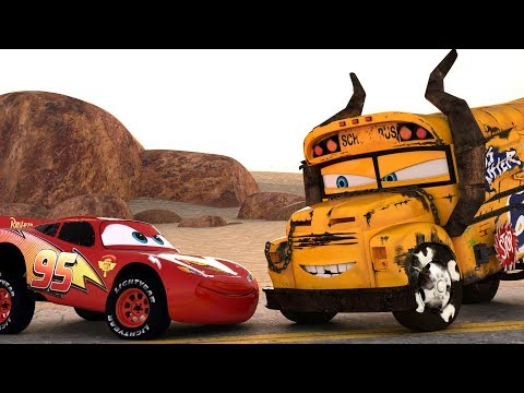 Lightning McQueen CHALLENGES Miss Fritter to a real Cars Race - WINNER GETS OIL (PART4)