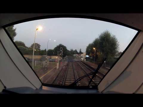 Voyage en cabine d'un AGC (B82500) de PARIS EST à PROVINS à la tombé de la nuit