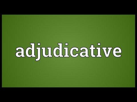 Header of adjudicative