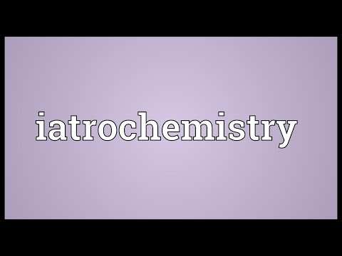 Header of iatrochemistry